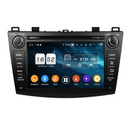 8 inch Android 9.0 OS Car Radio GPS Headunit for Mazda 3(2010-2012), Octa Core 1.5G CPU 4G DDR3 RAM 32G Flash, Touchscreen Auto DVD Player Stereo Bluetooth 4G WIFI OBD2 MirrorLink - foyotech