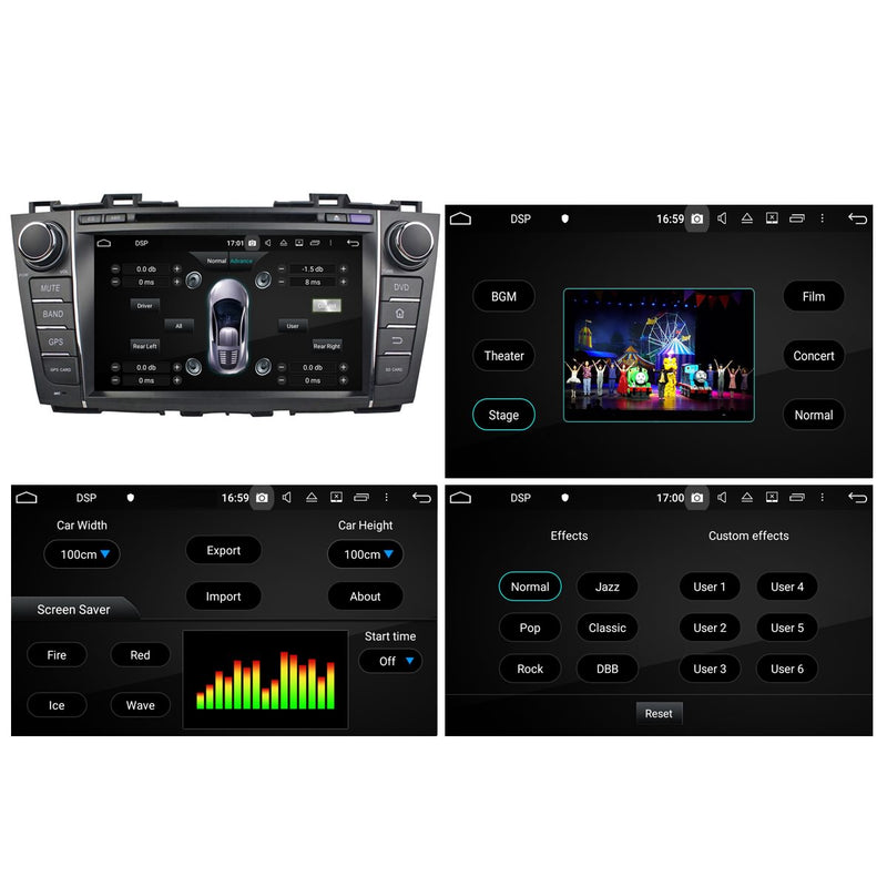 Android 10 Autoradio Stereo Navigation Headunit for Mazda 5/Premacy 2010 2011 2012 2013 2014 2015 2016 2017 2018. Octa Core 1.5G CPU 32G Flash 4G DDR3 RAM. 2 Din Radio DVD Player GPS 3G 4G WIFI Bluetooth USB/SD DSP Carplay Auto Steering Wheel Control OBDII. Double Din Vehicle Multimedia Player System Head Unit.