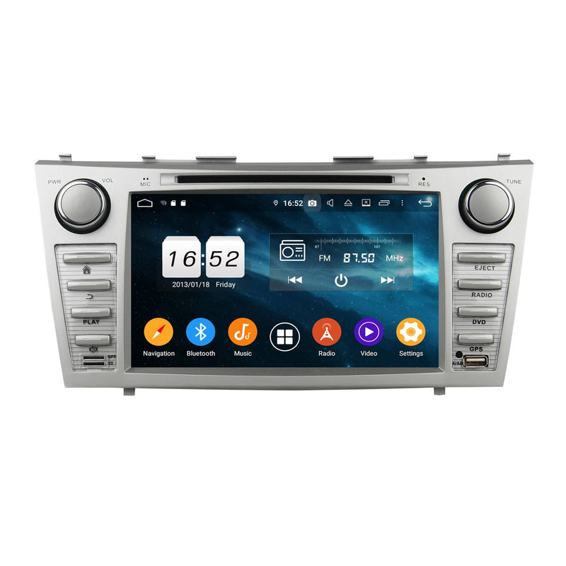 Android 9.0 OS 8 inch Touchscreen Car GPS Navigation Headunit for Toyota Camry(2007-2011), Octa Core 1.5G CPU 4G DDR3 RAM 32G Flash, Auto Radio DVD Player Bluetooth 4G WIFI OBDII MirrorLink - foyotech