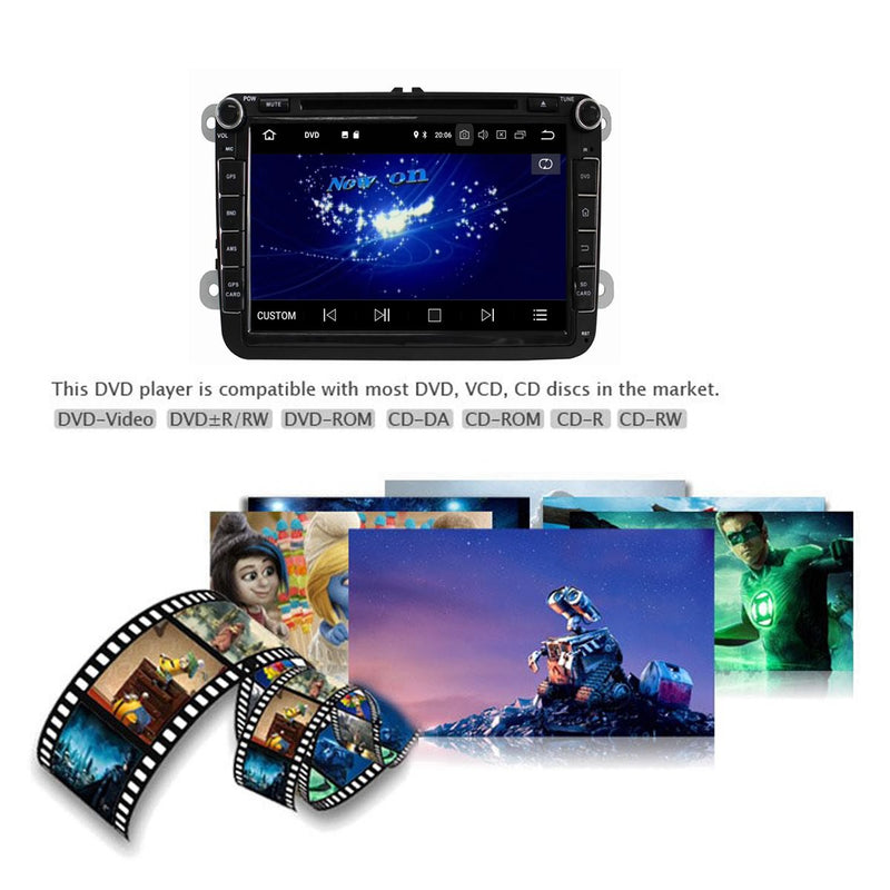 8 inch Touchscreen Android 9.0 OS Car Radio for Seat Leon(2006-2013), 8 Core 1.5G CPU 4G DDR3 RAM 32G Flash, Auto GPS Navigation DVD Player Bluetooth 4G WIFI Headunit - foyotech