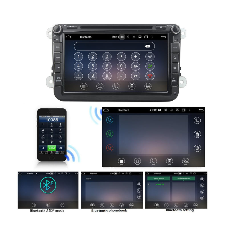 2 Din 8 inch Touch Screen Android 10 OS Autoradio Navigation Headunit. Octa Core 1.5G CPU 32G Flash 4G DDR3 RAM. Auto Radio GPS Navi 3G 4G WIFI Bluetooth USB/SD DSP Carplay Auto Steering Wheel Control. Plug and Play Cables Double Din Vehicle Multimedia Player System Head Unit.
