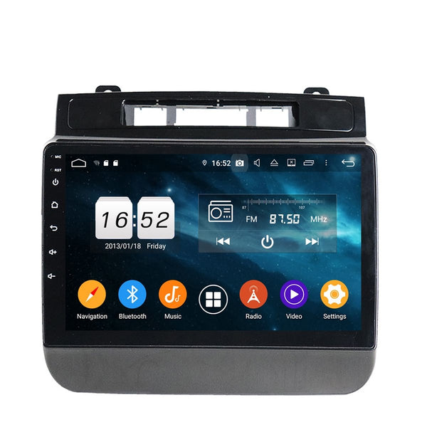 9 inch Touchscreen Android 9.0 OS Auto Stereo for Volkswagen Touareg(2010-2014), Octa Core 1.5G CPU 4G DDR3 RAM 32G Flash, Car GPS Navigation Radio Bluetooth 4G WIFI - foyotech