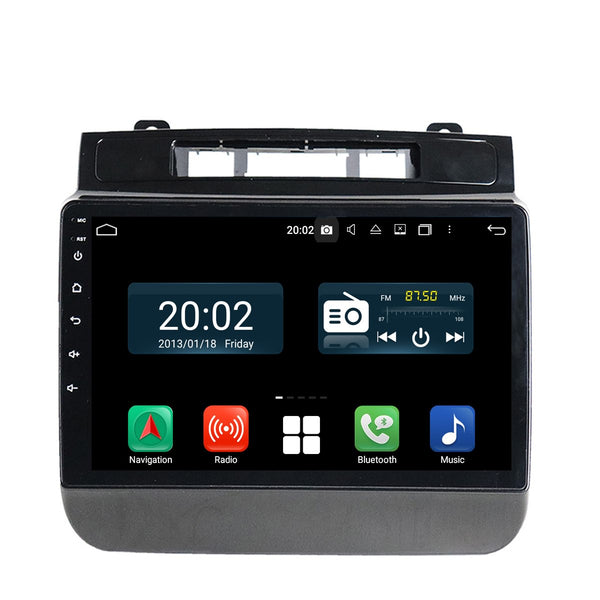 2 Din 9 inch 1024x600 Touch Screen Android 10 OS Autoradio Navi Headunit for VW Touareg 2010 2011 2012 2013 2014. Octa Core 1.5G CPU 32G Flash 4G DDR3 RAM. Auto Radio GPS Navigation 3G 4G WIFI Bluetooth USB DSP Carplay&Auto Steering Wheel Control. Double Din Vehicle Multimedia Player System. Plug and Play cables.