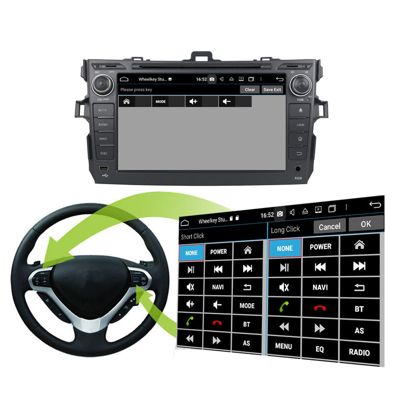 8'' Touchscreen Android 10 Autoradio Stereo for Toyota Corolla/Auris 2006 2007 2008 2009 2010 2011 2012 2013. 8 Core 1.5G CPU 32G Flash 4G DDR3 RAM. 2 Din Car Radio DVD Player GPS Navigation 3G 4G WIFI Bluetooth USB/SD DSP Carplay Auto Steering Wheel Control OBD2. Plug and Play cable Double Din Vehicle Multimedia System Head Unit