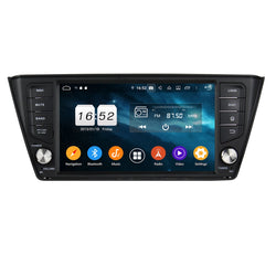 Android 9.0 OS Car GPS Head Unit for Skoda Fabia(2015-2020), Octa Core 1.5G CPU 4G DDR3 RAM 32G Flash, 8 inch Touchscreen Auto Radio Bluetooth 4G WIFI OBDII MirrorLink - foyotech