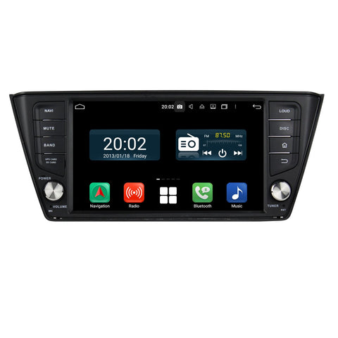 1 Din 1024x600 Touch Screen Android 10 Autoradio Stereo Navigation Headunit for Skoda Fabia 2015 2016 2017 2018 2019 2020. Octa Core 1.5G CPU 32G Flash 4G DDR3 RAM. Auto Radio GPS Navi 3G 4G WIFI Bluetooth USB/SD DSP Carplay Auto Steering Wheel Control OBDII. Plug and Play Single Din Vehicle Multimedia Player System Head Unit.