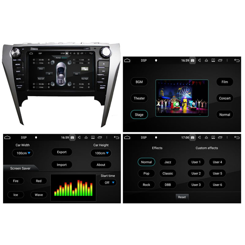 8 inch 1024x600 Capacitive Touchscreen Android 10 Autoradio Stereo for Toyota Camry 2012 2013 2014, Octa Core 1.5G CPU 32G Flash 4G DDR3 RAM. 2 Din Car DVD Player GPS Navigation 3G 4G WIFI Bluetooth USB/SD DSP Carplay Auto Steering Wheel Control OBD2. Plug and Play cable Double Din Vehicle Multimedia System Head Unit.