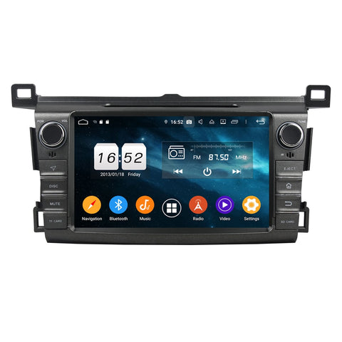 Android 9.0 OS 8 inch Touchscreen Car GPS Headunit for Toyota RAV4(2013-2018), Octa Core 1.5G CPU 4G DDR3 RAM 32G Flash, Auto Radio DVD Player Bluetooth 4G WIFI OBDII MirrorLink - foyotech
