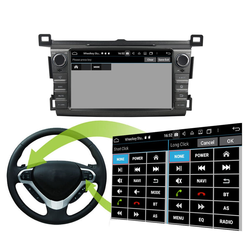 8 inch Touchscreen Android 10 Autoradio Stereo for Toyota RAV-4 2013 2014 2015 2016 2017 2018, Octa Core 1.5G CPU 32G Flash 4G DDR3 RAM. 2 Din Car DVD Player GPS Navigation 3G 4G WIFI Bluetooth USB/SD DSP Carplay Auto Steering Wheel Control OBD2. Plug and Play cable Double Din Vehicle Multimedia System Head Unit.