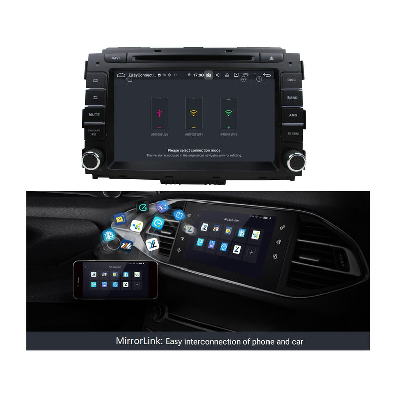 8 inch Touchscreen Android 9.0 OS Car DVD Player for Kia Carnival/Sedona(2014-2020), 8 Core 1.5G CPU 4G DDR3 RAM 32G Flash, Auto Radio GPS Navigation Bluetooth 4G WIFI OBDII MirrorLink Headunit - foyotech