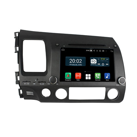 8'' Touchscreen Android 10.0 Autoradio Stereo for Honda Civic 2006 2007 2008 2009 2010 2011 Left Hand Driving. Octa Core 1.5G CPU 32G Flash 4G DDR3 RAM. 2 Din Car Radio DVD GPS Navigation 4G WIFI Bluetooth USB/SD DVD Player DSP Carplay Auto Steering Wheel Control OBDII. Double Din Vehicle Multimedia Player System Head Unit.