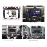 Android 9.0 OS 8 inch Touchscreen Car Radio DVD Player for Honda CRV(2006-2011), Octa Core 1.5G CPU 4G DDR3 RAM 32G Flash, Auto GPS Navigation Bluetooth 4G WIFI OBDII MirrorLink Headunit - foyotech