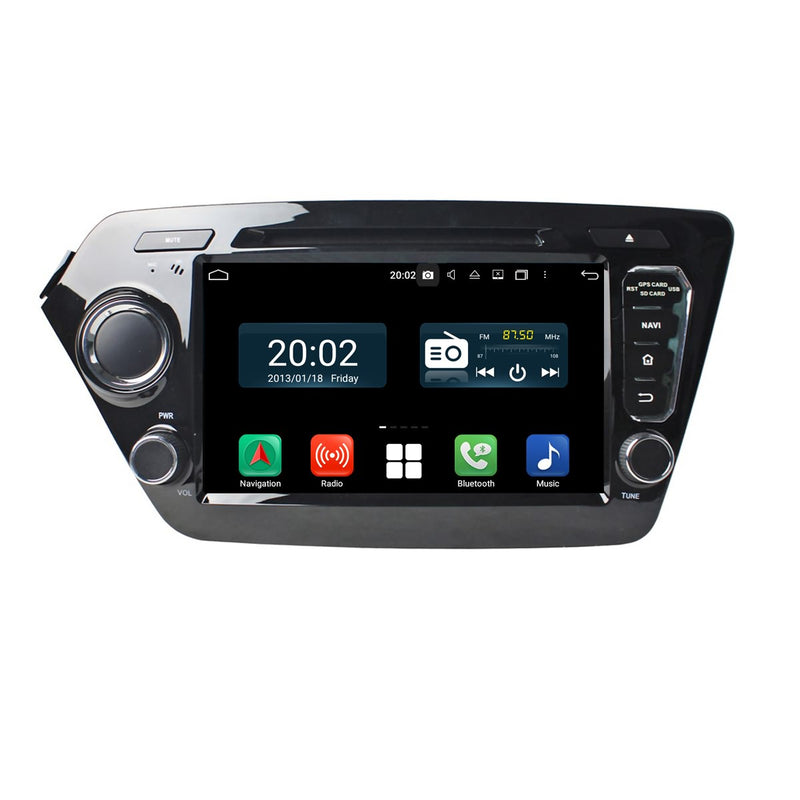 Android 10 Autoradio Stereo Headunit for Kia K2/Rio 2011 2012 2013 2014 2015 2016 2017. Octa Core 1.5G CPU 32G Flash 3G 4G DDR3 RAM. 2 Din Auto Radio DVD GPS Navigation 3G 4G WIFI Bluetooth USB/SD DSP Carplay Auto Steering Wheel Control OBDII. Plug and Play Double Din Vehicle Multimedia Player System Head Unit.