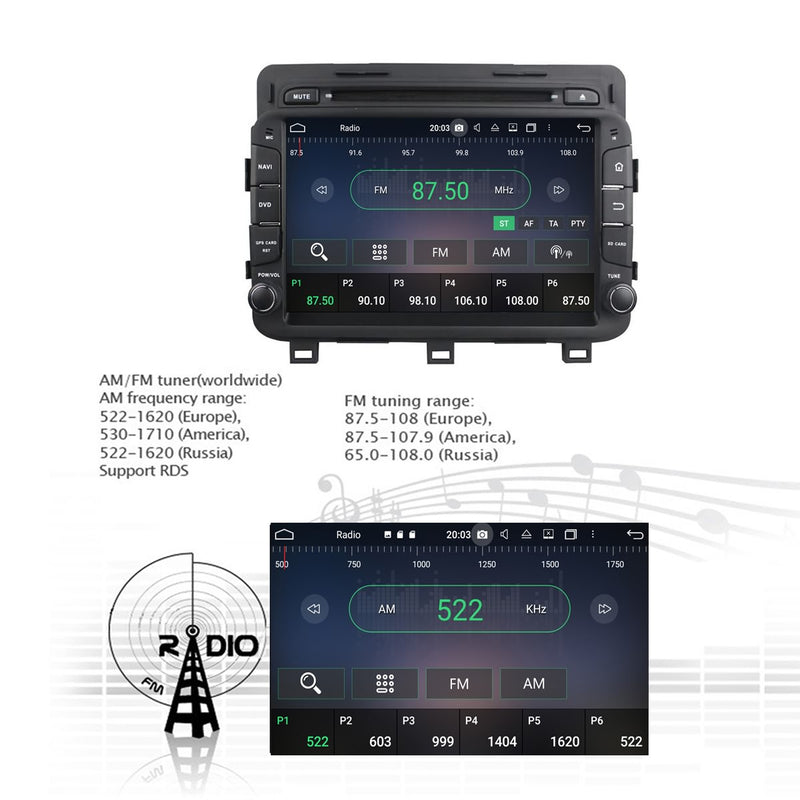8 inch Touchscreen Android 10 Autoradio Stereo Headunit for Kia K5/Optima 2014 2015 2016. Octa Core 1.5G CPU 32G Flash 4G DDR3 RAM. 2 Din Auto Radio DVD GPS Navigation 3G 4G WIFI Bluetooth USB/SD DSP Carplay Auto Steering Wheel Control OBDII. Plug and Play Double Din Vehicle Multimedia Player System Head Unit.