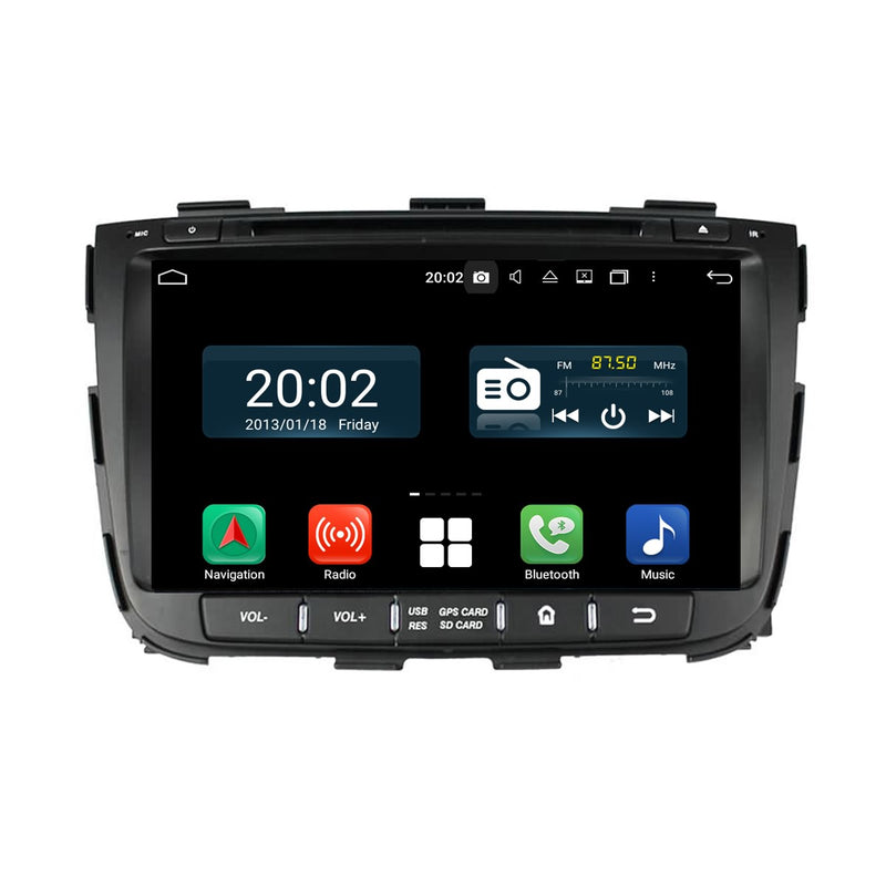 1024x600 Touchscreen Android 10 OS Autoradio Stereo for Kia Sorento 2013 2014. Octa Core 1.5G CPU 32G Flash 3G 4G DDR3 RAM. 2 Din Auto Radio GPS Navigation 3G 4G WIFI Bluetooth USB/SD DVD Player DSP Carplay Auto Steering Wheel Control OBDII. Plug and Play Double Din Vehicle Multimedia Player System Head Unit.