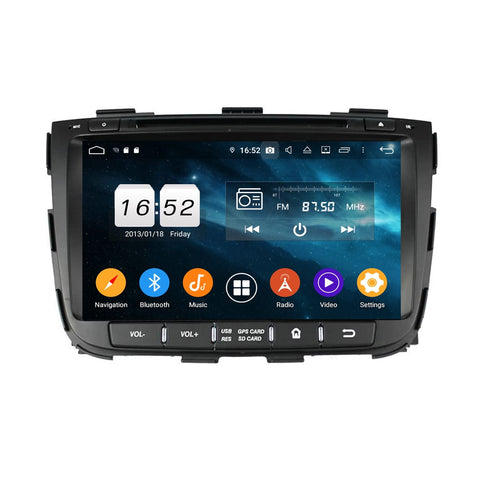 8 inch Android 9.0 OS Car GPS Navigation DVD Player for Kia Sorento(2013-2014), Octa Core 1.5G CPU 4G DDR3 RAM 32G Flash, Touchscreen Auto Radio Bluetooth 4G WIFI OBDII MirrorLink Headunit - foyotech