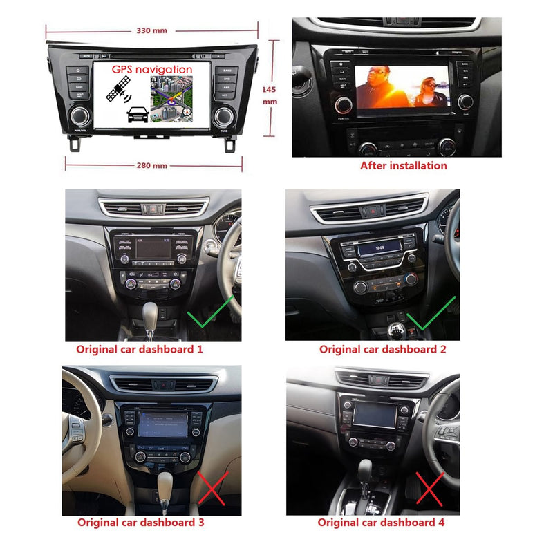 Android 9.0 OS 8 inch Car Radio GPS Navi Headunit for Nissan QashQai/X-Trail(2014-2020), Octa Core 1.5G CPU 4G DDR3 RAM 32G Flash, Touchscreen Auto DVD Player Stereo Bluetooth 4G WIFI OBD2 MirrorLink - foyotech
