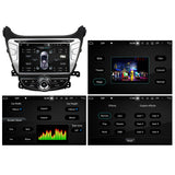 8 inch 1024x600 Touchscreen Android 10 OS Autoradio Stereo for Hyundai Elantra 2014 2015. Octa Core 1.5G CPU 32G Flash 3G 4G DDR3 RAM. 2 Din Car Radio GPS Navigation 3G 4G WIFI Bluetooth USB/SD DVD DSP Carplay Auto Steering Wheel Control OBDII. Plug and Play Double Din Vehicle Multimedia Player System Head Unit.