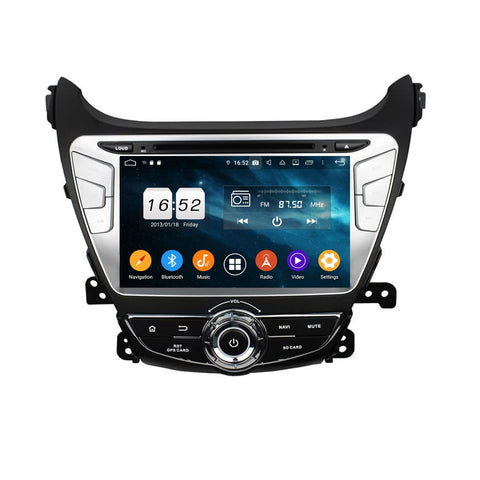 8 inch Touchscreen Android 9.0 OS Car GPS Navigation Headunit for Hyundai Elantra(2014-2015), 8 Core 1.5G CPU 4G DDR3 RAM 32G Flash, Auto Radio DVD Player Bluetooth 4G WIFI OBDII MirrorLink - foyotech