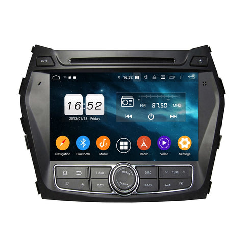 8 inch Android 9.0 OS Car GPS Navigation Headunit for Hyundai IX45/Santa Fe(2013-2018), Octa Core 1.5G CPU 4G DDR3 RAM 32G Flash, Touchscreen Auto Radio DVD Player Bluetooth 4G WIFI OBDII MirrorLink - foyotech