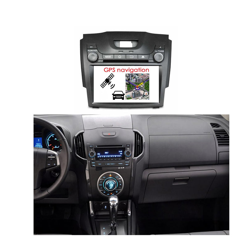 8 inch Touchscreen Car DVD Player GPS Navigation for Chevrolet S10/D-MAX(2013-2018), Octa Core 1.5G CPU 4G DDR3 RAM 32G Flash, Android 9.0 OS Auto Radio Stereo Bluetooth 4G WIFI OBD2 MirrorLink - foyotech