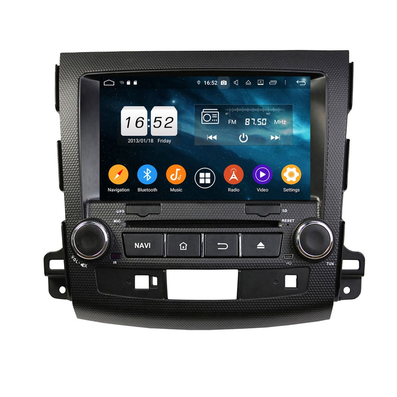 8 inch Touchscreen Android 9.0 OS Car Radio for Peugeot 4007(2006-2013), Octa Core 1.5G CPU 4G DDR3 RAM 32G Flash, Auto DVD Player GPS Navigation Bluetooth 4G WIFI OBDII MirrorLink Headunit - foyotech