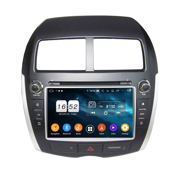 8 inch Android 9.0 OS Car Radio DVD Player for Citroen C4 Aircross(2010-2016), Octa Core 1.5G CPU 4G DDR3 RAM 32G Flash, Auto GPS Navigation Bluetooth 4G WIFI OBDII MirrorLink Headunit - foyotech