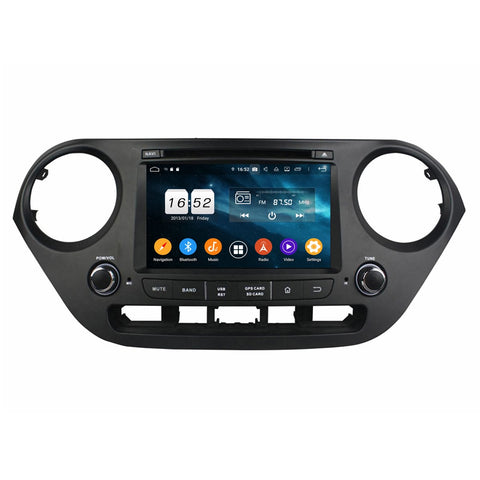 Android 9.0 OS 7 inch Touchscreen Car Radio GPS Navigation for Hyundai I10(2014-2020), Octa Core 1.5G CPU 4G DDR3 RAM 32G Flash, Auto DVD Player Bluetooth 4G WIFI OBDII MirrorLink Headunit - foyotech