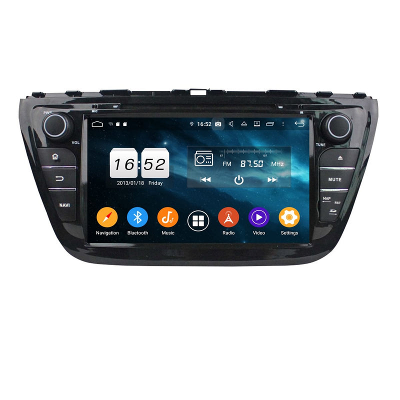 Android 9.0 OS 8 inch Touchscreen Car Radio for Suzuki SX4/S-Cross(2014-2020), Octa Core 1.5G CPU 4G DDR3 RAM 32G Flash, Auto DVD Player GPS Navigation Bluetooth 4G WIFI OBDII MirrorLink Headunit - foyotech