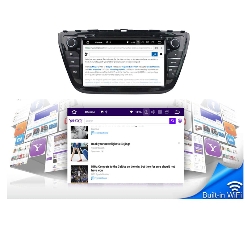 8'' Touchscreen Android 10 OS Autoradio Stereo for Suzuki SX4/S-Cross 2014 2015 2016 2017 2018 2019 2020. Octa Core 1.5G CPU 32G Flash 4G DDR3 RAM. 2 Din Car Radio DVD Player GPS 3G 4G WIFI Bluetooth USB/SD DVD Player DSP Carplay Auto Steering Wheel Control OBDII. Plug and Play cable Double Din Vehicle Multimedia System Head Unit.