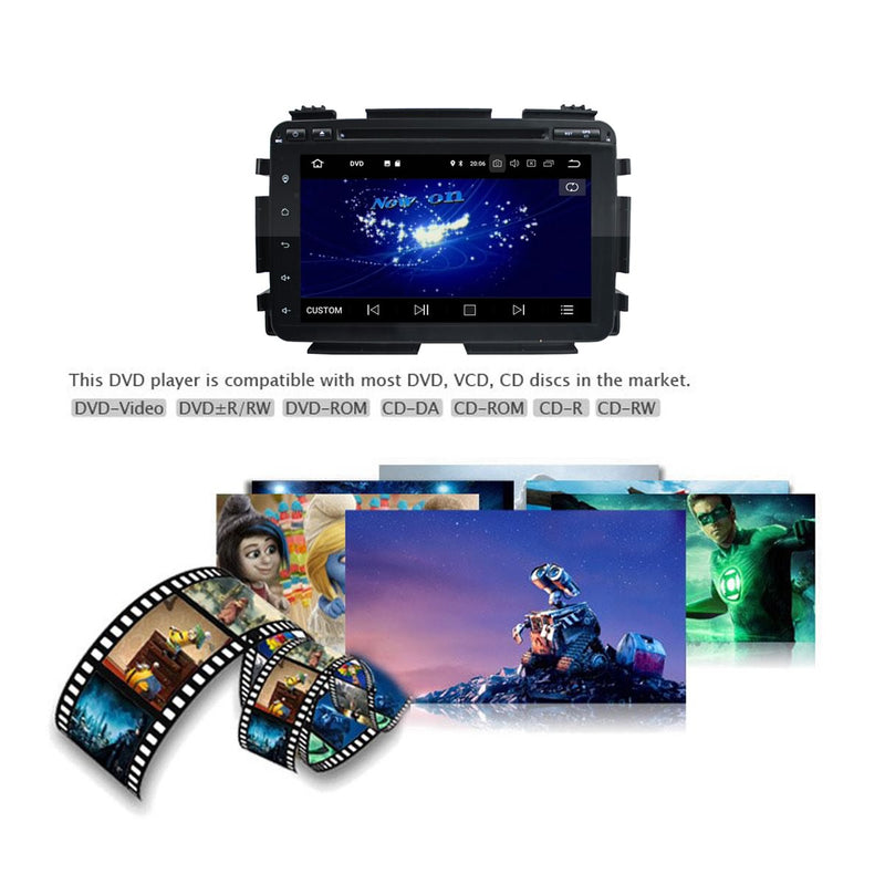 8 inch Touchscreen Android 10 Autoradio Stereo for Honda HRV/Vezel 2014 2015 2016 2017 2018 2019 2020. Octa Core 1.5G CPU 32G Flash 4G DDR3 RAM. 2 Din Car Radio DVD GPS Navigation 3G 4G WIFI Bluetooth USB/SD DVD Player DSP Carplay Auto Steering Wheel Control OBDII. Plug and Play cable Double Din Vehicle Multimedia System Head Unit.