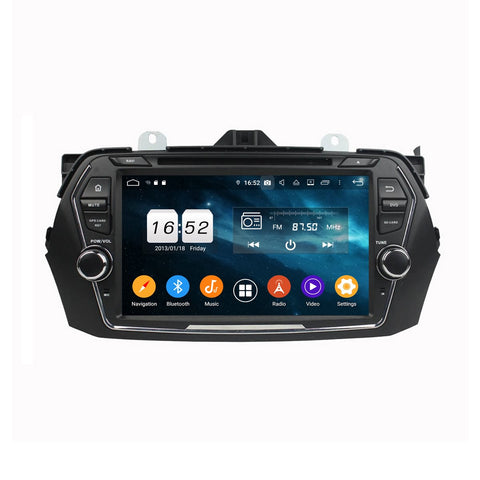 Android 9.0 OS 8 inch Car Radio Stereo for Suzuki Ciaz(2015-2020), Octa Core 1.5G CPU 4G DDR3 RAM 32G Flash, Touchscreen Auto DVD Player GPS Navigation Bluetooth 4G WIFI OBDII MirrorLink Headunit - foyotech