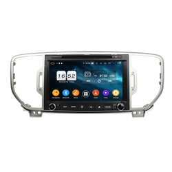 8 inch Touchscreen Android 9 Pie OS Autoradio Stereo for Kia Sportage 2016 2017 2018 2019. Octa Core 1.5G CPU 32G Flash 3G 4G DDR3 RAM. 2 Din Car Radio DVD GPS Navigation 4G WIFI Bluetooth USB/SD DVD Player MirrorLink Steering Wheel Control OBDII. Plug and Play Double Din Vehicle Multimedia Player System Head Unit.