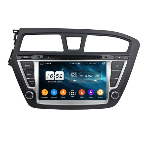 8 inch Touchscreen Android 9.0 OS Car GPS Navigation Radio for Hyundai I20(2014-2018) LHD, 8 Core 1.5G CPU 4G DDR3 RAM 32G Flash, Auto DVD Player Bluetooth 4G WIFI OBDII MirrorLink Headunit - foyotech