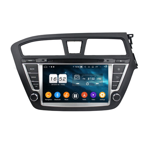 8 inch Touchscreen Android 9.0 OS Car GPS Navigation Radio for Hyundai I20(2014-2018) RHD, 8 Core 1.5G CPU 4G DDR3 RAM 32G Flash, Auto DVD Player Bluetooth 4G WIFI OBDII MirrorLink Headunit - foyotech