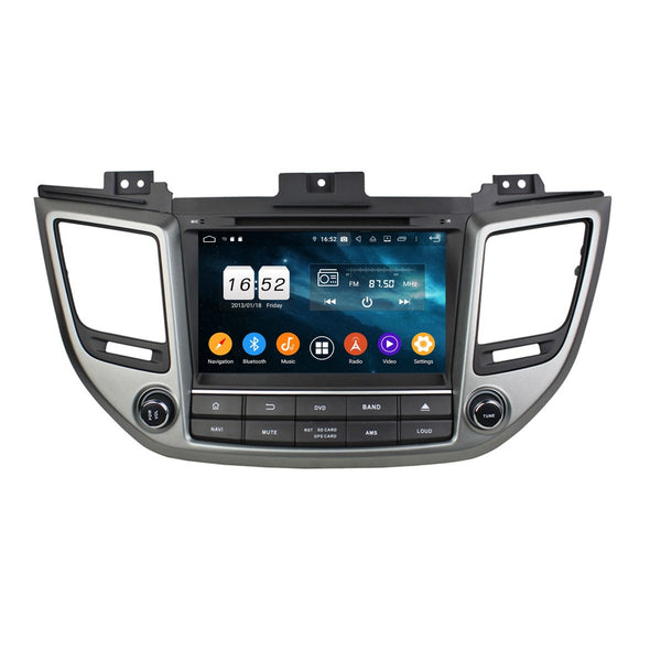 8 inch Touchscreen Android 9.0 Car GPS Navigation Radio Headunit for Hyundai Tucson/IX35(2015-2018), Octa Core 1.5G CPU 4G DDR3 RAM 32G Flash, Auto DVD Player Bluetooth 4G WIFI OBDII MirrorLink - foyotech