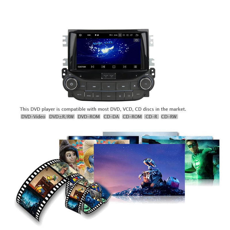 8 inch Touchscreen Android 9.0 OS Car DVD Player GPS Navigation for Chevrolet Malibu(2015-2018), Octa Core 1.5G CPU 4G DDR3 RAM 32G Flash, Auto Radio Stereo Bluetooth 4G WIFI OBD2 MirrorLink - foyotech