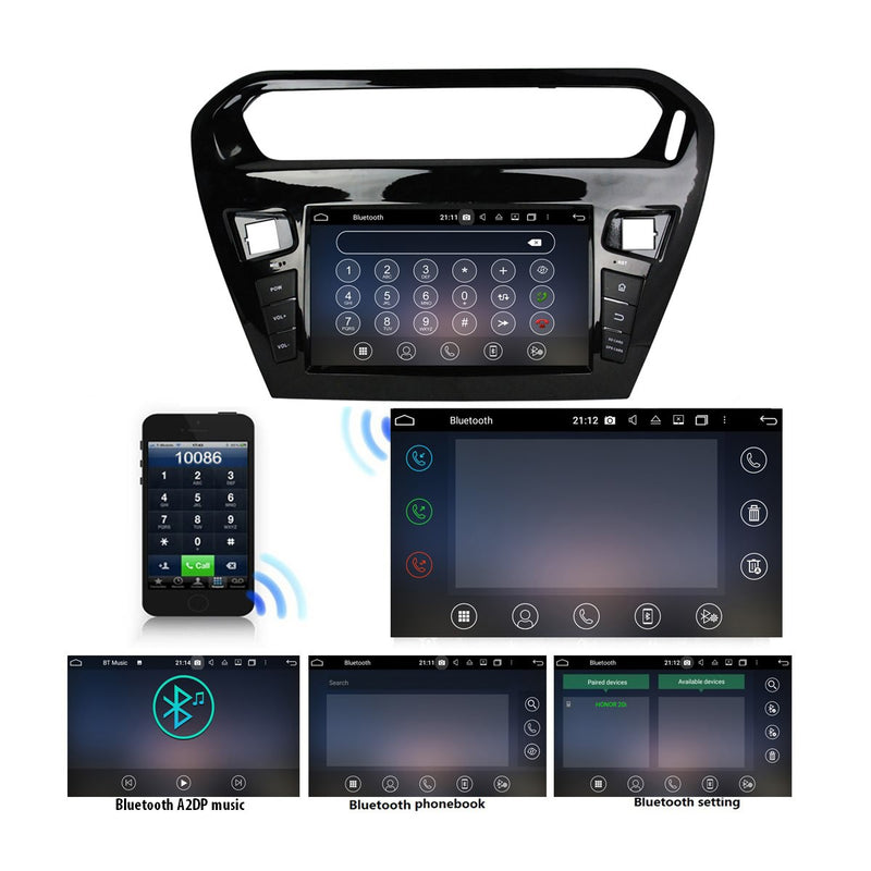 8 inch Touch Screen Android 10 OS Autoradio Stereo Navi Headunit for Peugeot 301(2013 2014 2015 2016 2017 2018 2019 2020). 8 Core 1.5G CPU 32G Flash 4G DDR3 RAM. 1 Din Auto Radio Player GPS 4G WIFI Bluetooth USB/SD DVD Player DSP Carplay Auto Steering Wheel Control OBDII. Single Din Vehicle Multimedia Player System Head Unit.