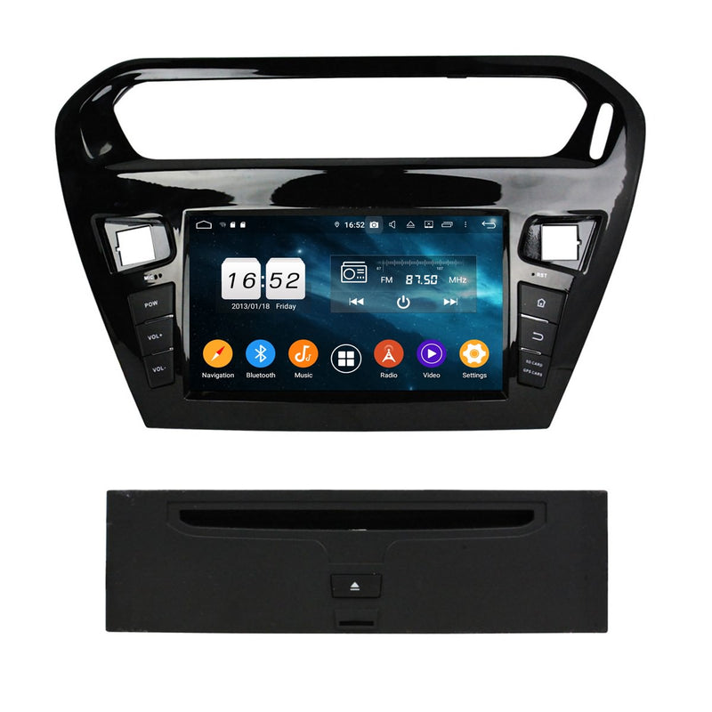 8 inch 1 Din Android 9.0 OS Car DVD Player GPS Navi for Peugeot 301(2013-2020), Octa Core 1.5G CPU 4G DDR3 RAM 32G Flash, Auto Radio Stereo Bluetooth 4G WIFI OBD2 MirrorLink - foyotech