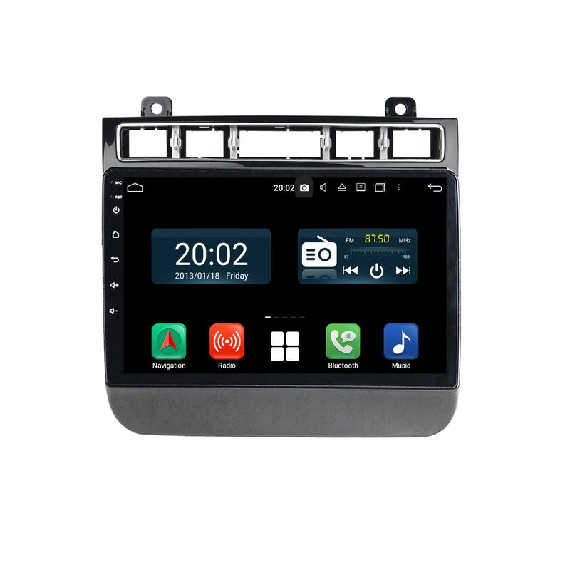 Android 10 OS 2 Din 9 inch 1024x600 Touch Screen Autoradio Navi Headunit for VW Touareg 2015 2016 2017 2018 2019 2020. Octa Core 1.5G CPU 32G Flash 4G DDR3 RAM. Auto Radio GPS Navigation 3G 4G WIFI Bluetooth USB MirrorLink Steering Wheel Control. Double Din Vehicle Multimedia Player System. Plug and Play cables.