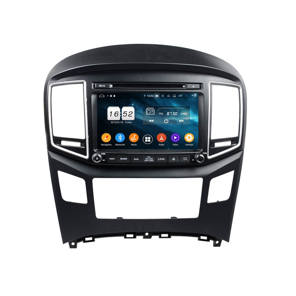 8 inch Touchscreen Android 9.0 OS Car Radio Headunit for Hyundai H1(2016-2020), Octa Core 1.5G CPU 4G DDR3 RAM 32G Flash, Auto DVD Player GPS Navigation Bluetooth 4G WIFI OBDII MirrorLink - foyotech