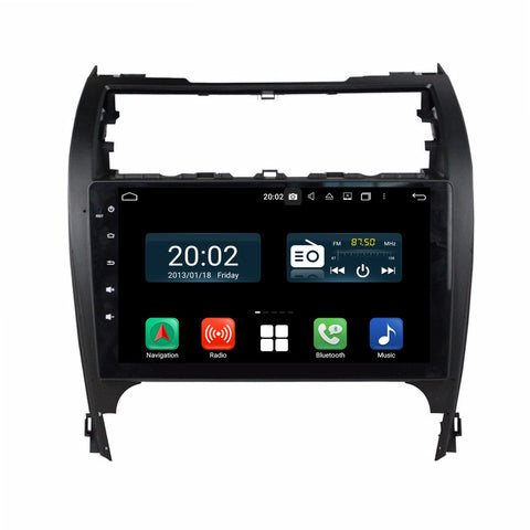 10.1 inch 1024x600 Capacitive Touchscreen Android 10 Autoradio Stereo for Toyota Camry 2012 2013 2014, Octa Core 1.5G CPU 32G Flash 4G DDR3 RAM. 2 Din Car GPS Navigation 3G 4G WIFI Bluetooth USB DSP Carplay Auto Steering Wheel Control OBD2. Plug and Play cable Double Din Vehicle Multimedia System Head Unit.