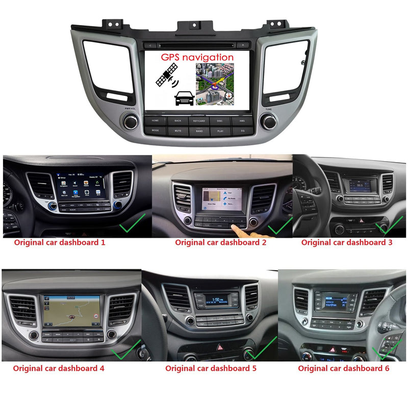 Touchscreen Android 10 Autoradio Stereo Headunit for Hyundai Tucson/IX35 2015 2016 2017 2018. Octa Core 1.5G CPU 32G Flash 3G 4G DDR3 RAM. 2 Din Car Radio GPS Navigation 3G 4G WIFI Bluetooth USB/SD DVD DSP Carplay Auto Steering Wheel Control OBDII. Plug and Play Double Din Vehicle Multimedia Player System Head Unit.