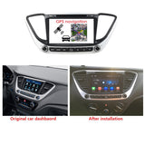 8 inch Touchscreen Android 9.0 OS Car Radio DVD Player for Hyundai Verna(2017-2020), Octa Core 1.5G CPU 4G DDR3 RAM 32G Flash, Auto GPS Navigation Bluetooth 4G WIFI OBDII MirrorLink Headunit - foyotech