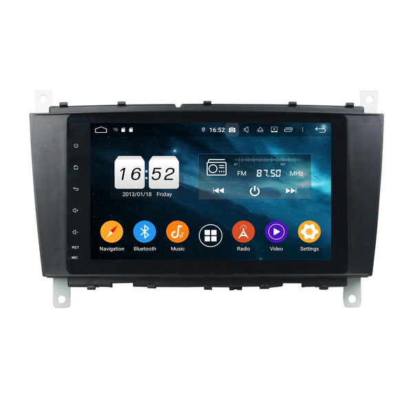 Android 9.0 Car Stereo for Benz W203(2004-2007)/W467(2008-2011), 4GB RAM+32GB ROM, DSP 8 Inch Full Touchscreen Auto GPS Navigation Bluetooth Head Unit - foyotech
