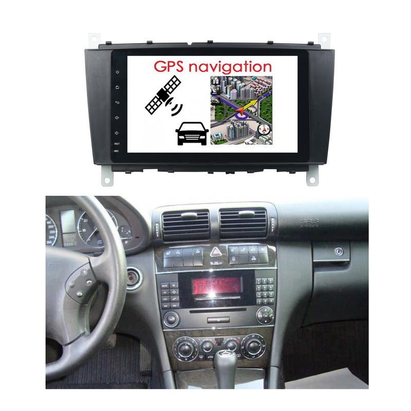 Android 10 8 Inch 1024x600 Touchscreen Autoradio Headunit for Benz W203(2004-2007)/W467(2008-2011), 8 Core 1.5GB CPU 32GB Flash 4GB DDR3 RAM, Auto Radio GPS Navigation 3G 4G WIFI Bluetooth USB DSP Carplay&Auto Steering Wheel Control DSP. Double Din Vehicle Touch Screen Multimedia Player System Head Unit.