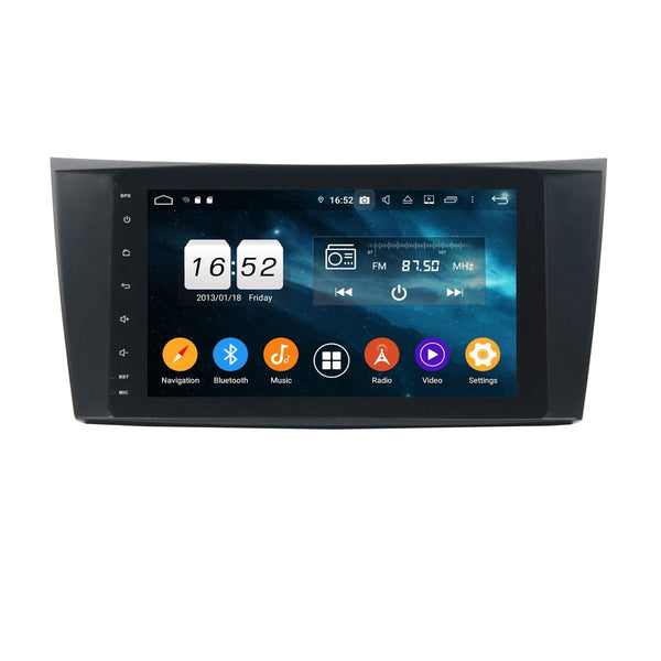 Car GPS for Benz W211(2002-2008)/W219(2004-2009)/W463(2001-2008), 4GB RAM+32GB ROM, 8 Inch Full Touchscreen Android 9.0 DSP Auto Radio Bluetooth Headunit - foyotech