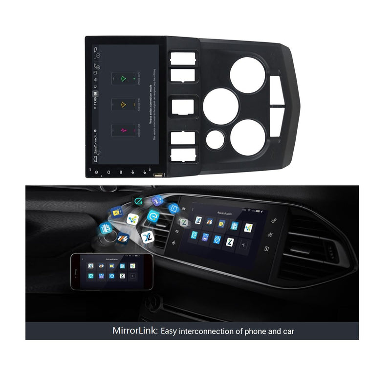 (Black) Android 9.0 Car GPS Navigation Headunit for Nissan Aprio(2007-2010), 4GB RAM+32GB ROM, 8 Inch Touchscreen Auto Radio DSP Bluetooth 4G WIFI - foyotech