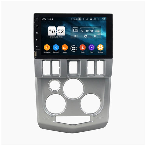 (Silver) Android 9.0 Touchscreen Car Radio Headunit for Dacia Logan(2004-2008), 4GB RAM+32GB ROM, 8 Inch Auto GPS Navigation Stereo DSP Bluetooth 4G WIFI - foyotech