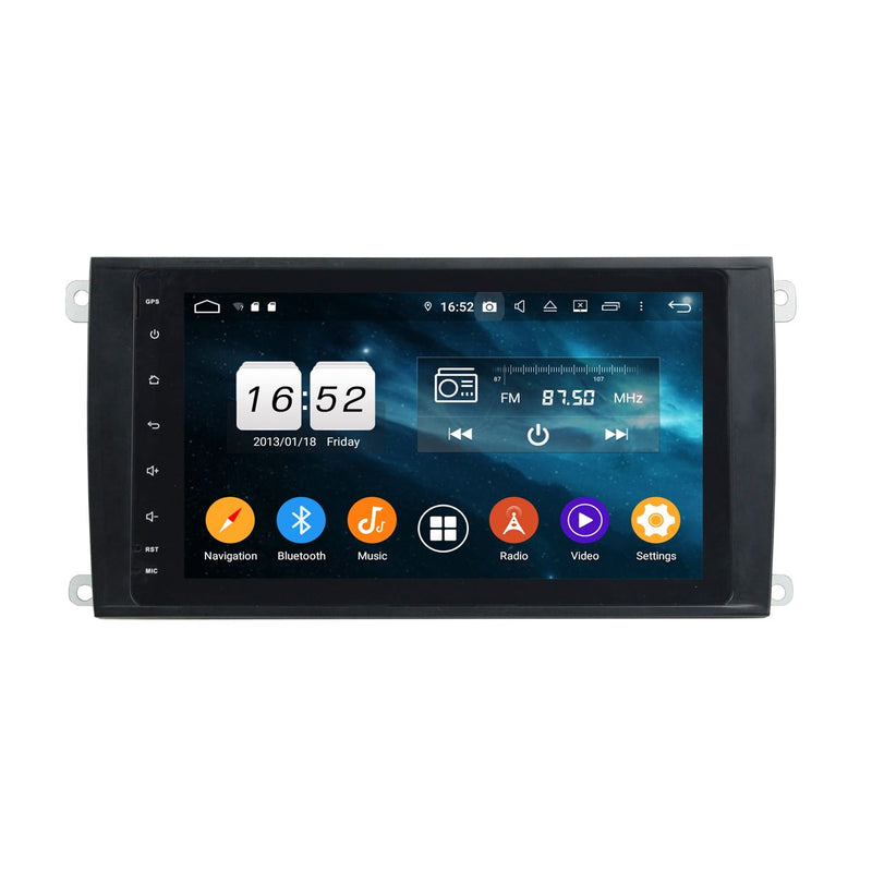 DSP Android 9.0 Car Radio for Porsche Cayenne(2003-2010), 4GB RAM+32GB ROM, 2 Din 8 Inch Touchscreen Auto GPS Navigation Bluetooth Head Unit - foyotech